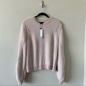 NWT-Sanctuary Pink Chenille Bubble Sleeve Sweater
